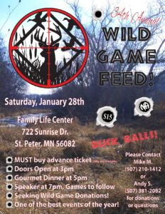 Wild Game Feed Flyer