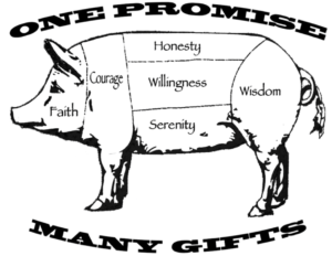 One Promise Many Gifts Pig Campout logo 2017