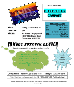 Freedom Campout Flyer