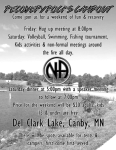 Recovery Rocks Campout Flyer