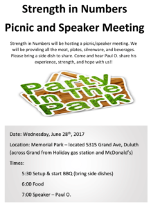 Strength in Numbers Picnic Flyer