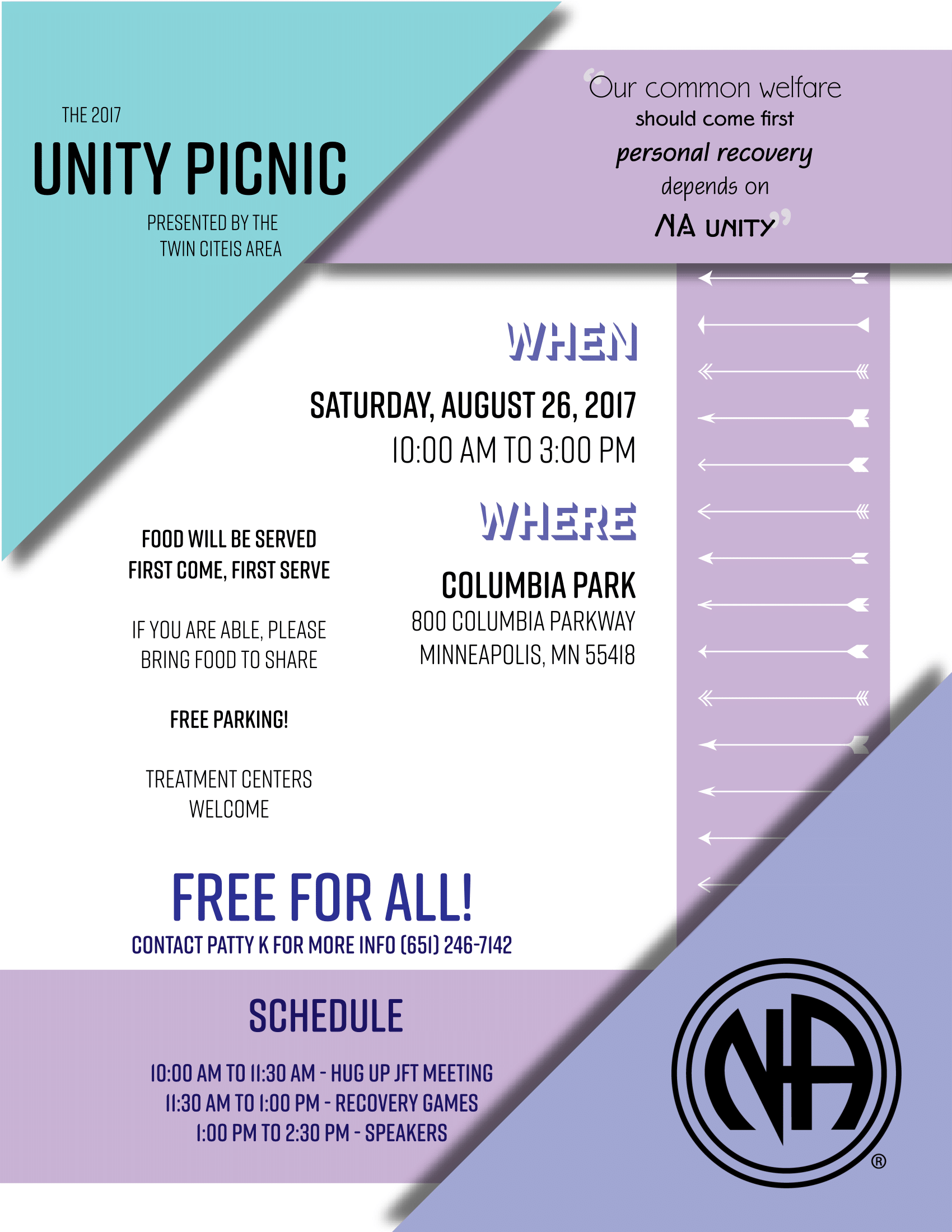 Twin Cities Unity Picnic Flyer