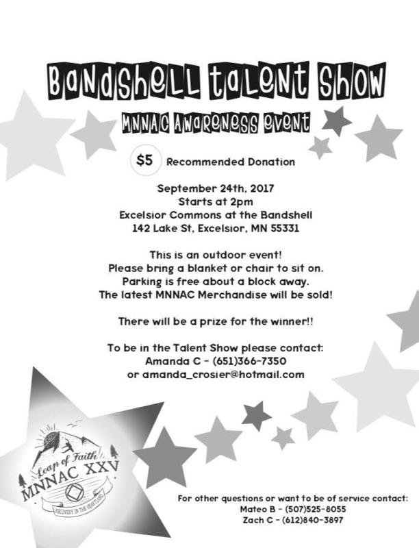 Band Shell Talent Show Flyer