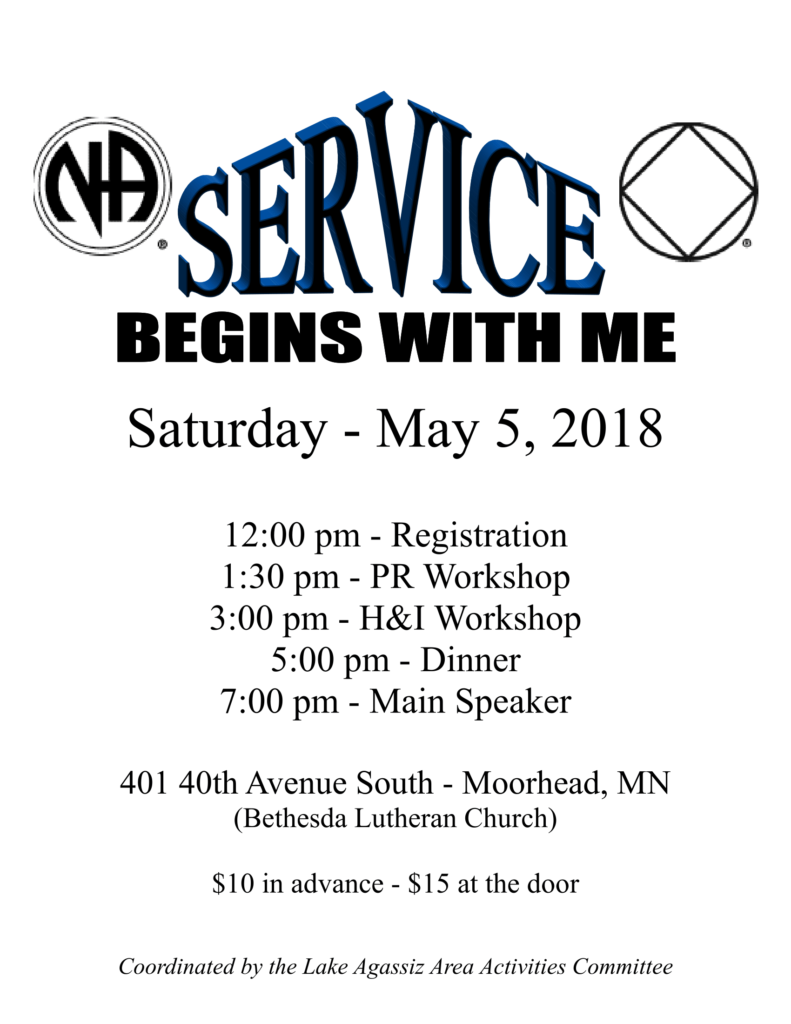 Service Begins with Me Flyer
